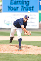 July 11, 2010: Everett AquaSox pitcher Stephen Pryor (#45) delivers a pitch during a Northwest League game against the Spokane Indians at Everett Memorial Stadium in Everett, Washington.