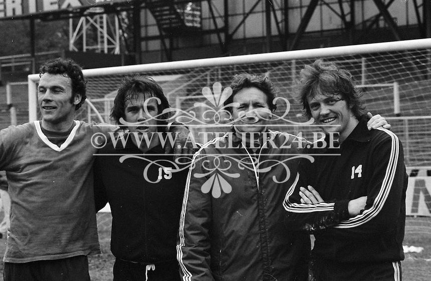 1977. RSC Anderlecht. Jan Ruiter, Raymond Goethals, Arie Haan.