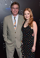 Jessica Chastain + Aaron Sorkin @ the photocall for STX Films 'The State of the Industry: Past, Present and Future' held @ The Colosseum at Caesars Palace.<br /> March 28, 2017 , Las Vegas, USA. # CINEMA CON 2017 - PHOTOCALL 'THE STATE OF THE INDUSTRY'