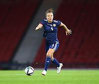 21st September 2021; Hampden Park, Glasgow, Scotland: FIFA Womens World Cup qualifying, Scotland versus Faroe Islands; Rachel Corsie of Scotland on the ball
