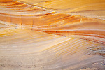 Abstract sandstone rock formations at White Pockets, Paria Plateau, Vermilion Cliffs National Monument, Arizona, USA.
