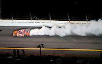 Feb 07, 2009; Daytona Beach, FL, USA; NASCAR Sprint Cup Series driver Reed Sorenson blows an engine during the Bud Shootout at Daytona International Speedway. Mandatory Credit: Mark J. Rebilas-