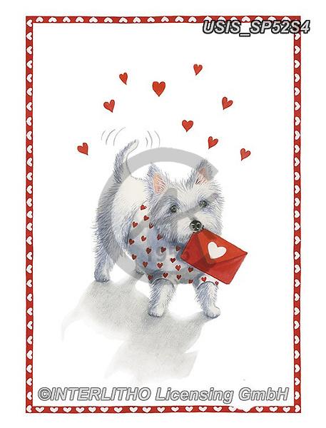 Ingrid, VALENTINE, VALENTIN, paintings+++++,USISSP52S4,#v#, EVERYDAY,dog,envelope
