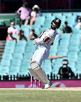 11th January 2021; Sydney Cricket Ground, Sydney, New South Wales, Australia; International Test Cricket, Third Test Day Five, Australia versus India; Cheteshwar Pujara of India avoids the short ball