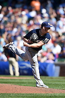 Milwaukee Brewers pitcher Will Smith (13) delivers a pitch during a game against the Chicago Cubs on August 14, 2014 at Wrigley Field in Chicago, Illinois.  Milwaukee defeated Chicago 6-2.  (Mike Janes/Four Seam Images)
