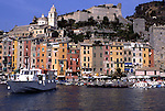 Europe, ITA, Italy, Liguria, Rivera, Portovenere, Typical view on to the Village, Harbour, Port....[ For each utilisation of my images my General Terms and Conditions are mandatory. Usage only against use message and proof. Download of my General Terms and Conditions under http://www.image-box.com or ask for sending. A clearance before usage is necessary...Material is subject to royalties. Each utilisation of my images is subject to a fee in accordance to the present valid MFM-List...Contact | archive@image-box.com | www.image-box.com ]