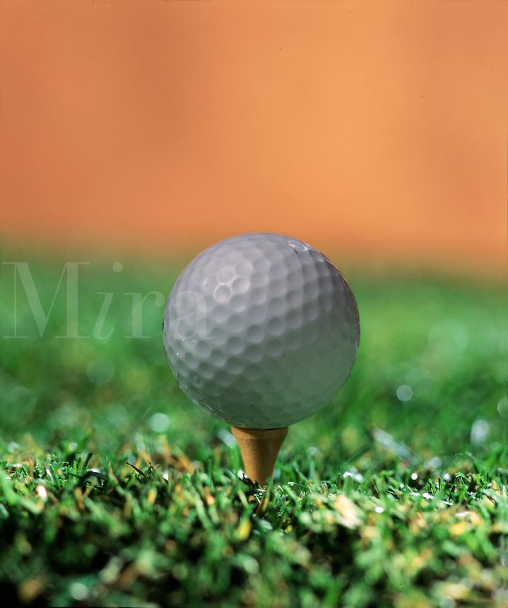 Golf ball on a tee.
