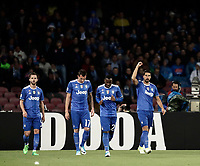 Calcio, Serie A: Napoli, stadio San Paolo, 2 aprile, 2017.<br /> Juventus Sami Khedira celebrates after scoring with his teammates during the Italian Serie A football match between Napoli and Juventus at San Paolo stadium, April 2, 2017<br /> UPDATE IMAGES PRESS/Isabella Bonotto