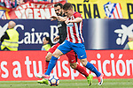 Mikel Balenziaga Oruesagasti (L) of Athletic Club fights for the ball with Kevin Gameiro (R) of Atletico de Madrid  during their La Liga match between Atletico de Madrid vs Athletic de Bilbao at the Estadio Vicente Calderon on 21 May 2017 in Madrid, Spain. Photo by Diego Gonzalez Souto / Power Sport Images