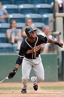 July 22 2007: Eric Young of the Modesto Nuts bats against the Rancho Cucamonga Quakes at The Epicenter in Rancho Cucamonga,CA.  Photo by Larry Goren/Four Seam Images
