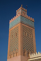 Mosque Minaret in Marrakech, Morocco