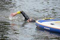 ZWEMSPORT: BROEK (BIJ JOURE) 06-09-2020 : Benno Tuinstra zwemt de 11 van Joure voor de Maarten van der Weijden Foundation, Benno Tuinstra, opbrengst 15.695 euro, ©foto Martin de Jong