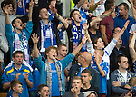 St Johnstone v FC Minsk...08.08.13 Europa League Qualifier<br /> Saints fans cheer their team<br /> Picture by Graeme Hart.<br /> Copyright Perthshire Picture Agency<br /> Tel: 01738 623350  Mobile: 07990 594431