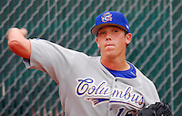16 June 2007: Jeremy Hellickson of the Columbus Catfish at West End Field in Greenville, S.C. Photo by:  Tom Priddy/Four Seam Images
