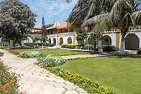 Dakar, Senegal.  Dakar Hospital Garden Courtyard.