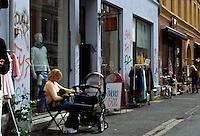 NNorwegen, Oslo, auf der Straße Markveien in Grünerløkka