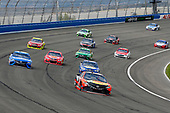 2017 Monster Energy NASCAR Cup Series<br /> Auto Club 400 Auto Club Speedway, Fontana, CA USA<br /> Sunday 26 March 2017<br /> Martin Truex Jr, Bass Pro Shops/TRACKER BOATS Toyota Camry and Chase Elliott<br /> World Copyright: Russell LaBounty/LAT Images<br /> ref: Digital Image 17FON1rl_5902