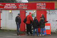 Fans await the opening of the turnstiles during Stevenage vs Leyton Orient, Sky Bet League 2 Football at the Lamex Stadium, Stevenage, England on 02/01/2016