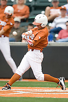 Texas OF Mark Payton (15) connects against Stanford on March 4th, 2011 at UFCU Disch-Falk Field in Austin, Texas.  (Photo by Andrew Woolley / Four Seam Images)