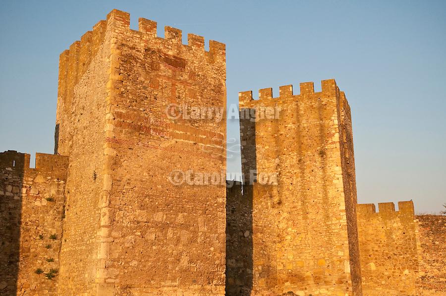 Old fortress walls in Smederevo along the Reka Dunav (Danube River)