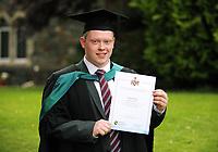 Tuesday 04 July 2017<br /> UWTSD Graduation ceremony at the University of Wales Trinity Saint Davids, Carmarthen Campus, Wales, UK