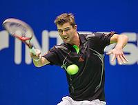 12-12-12, Rotterdam, Tennis, Masters 2012,    Antal van der Duim wint door opgave van Thiemo de Bakker.