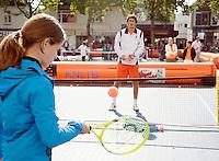 18-9-08, Netherlands, Apeldoorn, Tennis, Daviscup NL-Zuid Korea, Draw ,  streettenis with Robin Haase