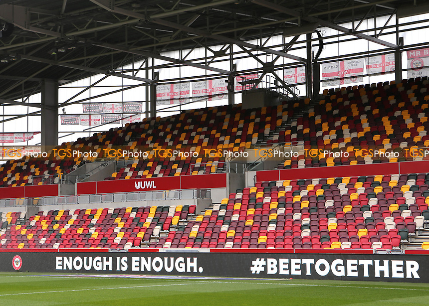 A social media ban from EFL football clubs this weekend as Brentford FC say enough is enough during Brentford vs Watford, Sky Bet EFL Championship Football at the Brentford Community Stadium on 1st May 2021