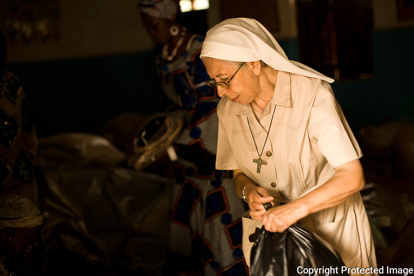 Sister Giovana Calabria, a nun in the Comboni mission in Nzara, south Sudan. Nzara has become home to thousands of Internally displaced sudanse as well as congolese refugees. they rely on  residents for shelter and land.