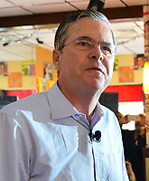MIAMI, FL - DECEMBER 28: Republican presidential candidate and former Florida Governor Jeb Bush holds a meet and greet at Chico's Restaurant on December 28, 2015 in Hialeah, Florida.<br /> <br /> People:  Jeb Bush