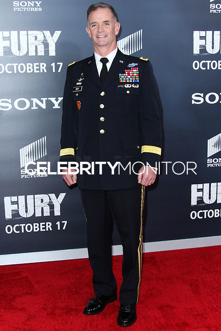 WASHINGTON, DC, USA - OCTOBER 15: Colonel Walter E. Piatt arrives at the Washington DC Premiere Of Sony Pictures' 'Fury' held at The Newseum on October 15, 2014 in Washington, DC, United States. (Photo by Jeffery Duran/Celebrity Monitor)