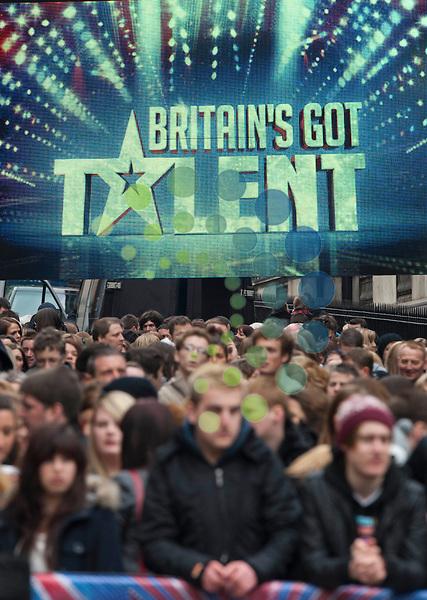 Britain's Got Talent in Edinburgh..Picture: Pavol Mraz/Universal News And Sport (Scotland). 11/ February 2012.