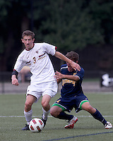 Boston College defeated Quinnipiac, 5-0, at Newton Soccer Field, September 1, 2011.