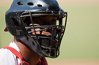 15 February 2009: Catcher Rolando Merino of the Orientales is seen during a training game of Cuba Baseball Team for the World Baseball Classic 2009. The national team is pitted against itself, divided in two teams called the Occidentales and the Orientales. The Orientales win 12-8, at the Latinoamericano stadium, in la Habana, Cuba.