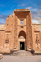 Main entrance to the Hareem of the 18th Century Ottoman architecture of the Ishak Pasha Palace (Turkish: İshak Paşa Sarayı) ,  Agrı province of eastern Turkey.