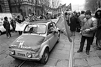 - Milan, trade-union manifestation of  metal mechanics workers (1978)....- Milano, manifestazione sindacale degli operai metalmeccanici (1978)