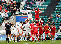 10th July 2021; Twickenham, London, England; International Rugby Union England versus Canada; Big challenges from Lewis Ludlam of England and Corey Thomas of Canada in the line out