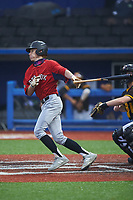 Braiden Eagen of Saint James High School (SC) playing for the Red Sox scout team during the South Atlantic Border Battle Futures Game at Truist Point on September 25, 2020 in High Pont, NC. (Brian Westerholt/Four Seam Images)