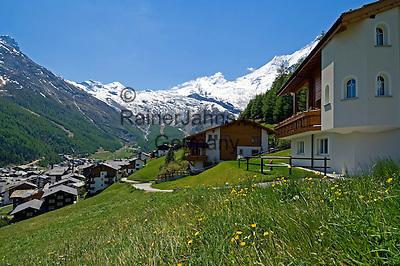 Switzerland, Canton Valais, Saas-Fee at Saas valley