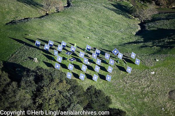rural solar panel installation in the Mayacamas Mountains, Napa Valley, California