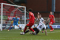 Lee Angol of Leyton Orient goes close during Leyton Orient vs Salford City, Sky Bet EFL League 2 Football at The Breyer Group Stadium on 2nd January 2021