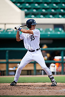 Detroit Tigers Ulrich Bojarski (30) at bat during a Florida Instructional League game against the Pittsburgh Pirates on October 6, 2018 at Joker Marchant Stadium in Lakeland, Florida.  (Mike Janes/Four Seam Images)