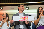 (L to R): Ines Arrimadas, President of Ciudadanos, Albert Rivera, and Begona Villacis during a meeting with their militants in Madrid. October, 05, 2019. (ALTERPHOTOS/Francis Gonzalez)