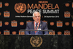 Opening Plenary Meeting of the Nelson Mandela Peace Summit<br /> <br /> His Excellency Jorge ARREAZA MONTSERRATMinister of the People's Power for Foreign Affairs of theBolivarian Republic of Venezuela(on behalf of the Non-Aliegned Movement)