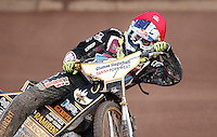 Mikkel Bech of Lakeside Hammers - Lakeside Hammers vs Wolverhampton Wolves, Elite League Speedway at the Arena Essex Raceway, Pufleet - 04/07/14 - MANDATORY CREDIT: Rob Newell/TGSPHOTO - Self billing applies where appropriate - 0845 094 6026 - contact@tgsphoto.co.uk - NO UNPAID USE