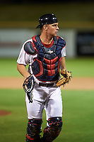 Scottsdale Scorpions catcher Stuart Turner (11) during an Arizona Fall League game against the Mesa Solar Sox on October 20, 2015 at Scottsdale Stadium in Scottsdale, Arizona.  Mesa defeated Scottsdale 5-4.  (Mike Janes/Four Seam Images)