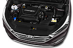 Car stock 2018 Hyundai Tucson Executive 5 Door SUV engine high angle detail view