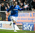 :: RANGERS' NIKICA JELAVIC CELEBRATES AFTER HE SCORES THE THIRD :: .19/04/2011   Copyright  Pic : James Stewart.sct_jsp016_dundee_utd_v_rangers .James Stewart Photography 19 Carronlea Drive, Falkirk. FK2 8DN      Vat Reg No. 607 6932 25.Telephone      : +44 (0)1324 570291 .Mobile              : +44 (0)7721 416997.E-mail  :  jim@jspa.co.uk.If you require further information then contact Jim Stewart on any of the numbers above.........