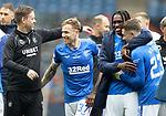 15.05.2021 Rangers v Aberdeen: Michael Beale and Scott Arfield, Calvin Bassey and Scott Wright