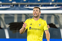 FOXBOROUGH, MA - OCTOBER 3: Dave Romney #4 of Nashville SC on field portrait during a game between Nashville SC and New England Revolution at Gillette Stadium on October 3, 2020 in Foxborough, Massachusetts.